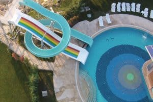 havadan çekilmiş aqua park